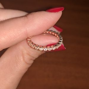 AmberRenée & Co Jewelry - ROSE GOLD 2mm Bezel Eternity Infinity Ring mejuri